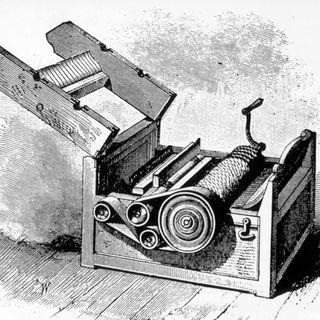 Patent für Baumwollentkörnungsmaschine beantragt (am 28.10.1793)