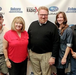 Ben Sawyer & Jennifer Strahan with SOAR Vision Group and David LeBlanc with D&D Carpet Cleaning