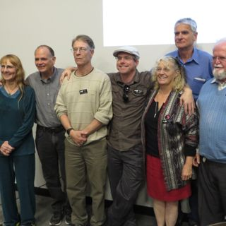Chris McKay, Larry Niven and Andy Weir at the Contact Conference