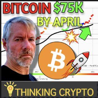 MicroStrategy Bought The Bitcoin Dip - BTC $75K by April? - Crypto Custody Nebraska