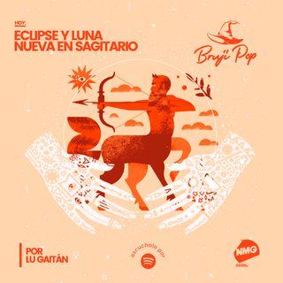 Eclipse y Luna Nueva en Sagitario