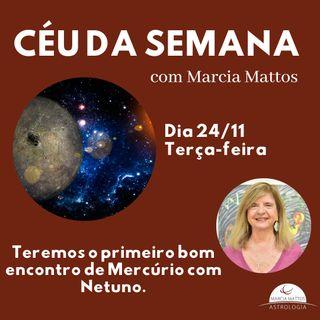 Céu da Semana - Terça, dia 24/11: nós temos o primeiro bom encontro de Mercúrio com Netuno.