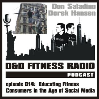 D&D Fitness Radio Podcast - Episode 014:  Educating the Fitness Consumer in the Age of Social Media