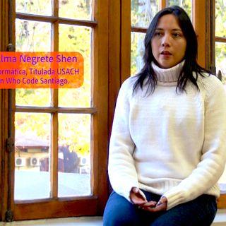 Atómicas: mujeres en informática Usach 2. Entrevista con Alma Negrete Shen de Women Who Code Chile.