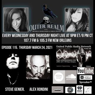 The Outer Realm With Michelle Desrochers and Amelia Pisano guest Steve Genier Alex Rondini