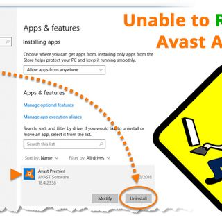 Unable To Reinstall Avast Antivirus