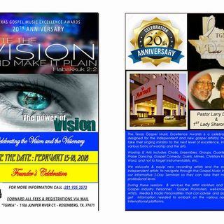"""CEO AND FOUNDER, PASTOR LARRY DAVIES """"TEXAS GOSPEL MUSIC EXCELLENCE AWARDS"""""""