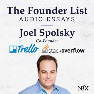 "The Founder List: Joel Spolsky (Co-Founder of Trello & Stack Overflow) on ""Strategy Letter I: Ben and Jerry's vs. Amazon"""
