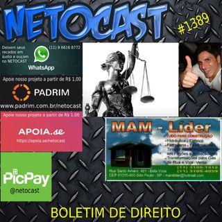 NETOCAST 1389 DE 20/01/2021 - BOLETIM DE DIREITO