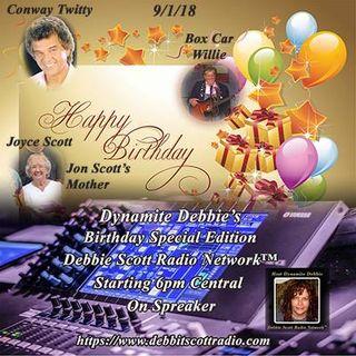 HAPPY BIRTHDAY JOYCE SCOTT, LINCOLN PALMER, CONWAY TWITTY & BOX CAR WILLIE !!!  9-1-18