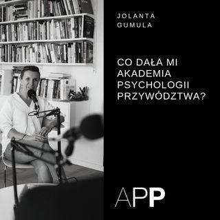 Historie Absolwentów APP - Jolanta Gumula