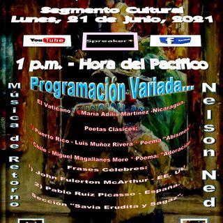 Programación Cultural y Literaria Variada + Música de Nelson Ned