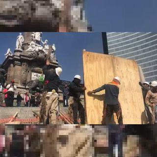 Aceleran recuperación de monumentos en Reforma