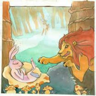 #folktalesforgrownfolks-The Lion & The Hare