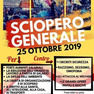 Roberto Betti, Sgb (sindacato generale di base), le ragioni dello sciopero del 25 ottobre 2019