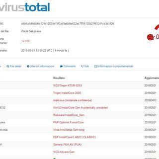 884 Attrezzi: nuovo virus in circolazione rilevato da pochi antivirus, ecco quali.