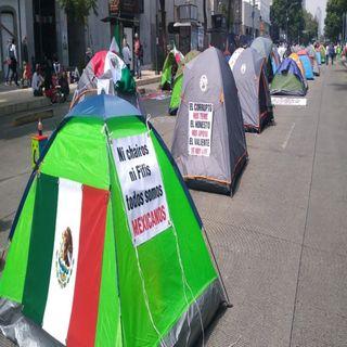 Garantiza gobierno CDMX la salud de quienes están en plantón en Av. Juárez