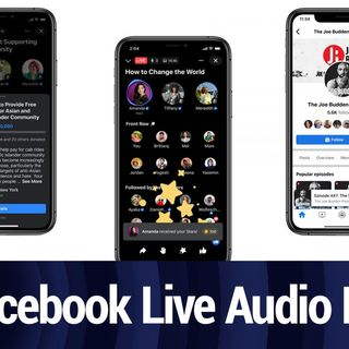 Facebook Launches Live Audio Rooms and Podcast