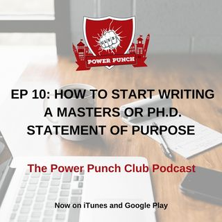 How to start writing a Masters or Ph. D. statement of purpose