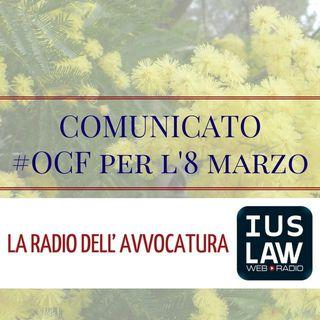 #OCF, Comunicato 8 marzo