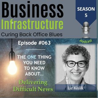 Episode 63: The One Thing You Need to Know About Delivering Difficult News   Liz Kislik