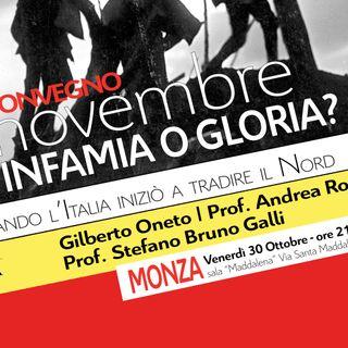 Convegno Nord e Grande Guerra, infamia o gloria? Ne parlo con il prof. Stefano Bruno Galli
