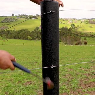Mike Hosking interviews Lyn Mayes about turning plastic into fence posts