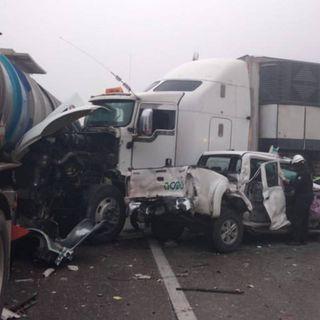 Tras carambola se mantiene cerrada la autopista Monterey-Saltillo