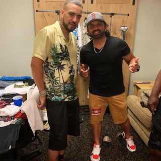 Dj Pup Dawg With French Montana, Backstage at his show