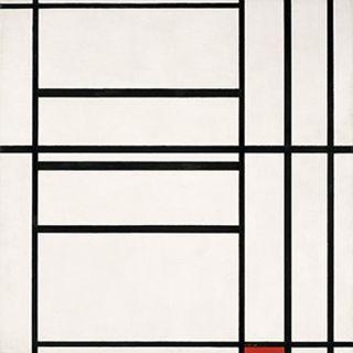 Mondrian, Composizione n° 1 con rosso