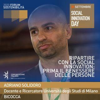 Digital Talk | Ripartire con la Social Innovation: prima il benessere delle persone | Forum Sostenibilità 2020