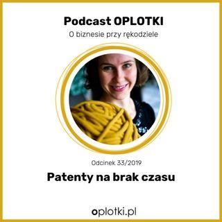 33/2019 Patenty na brak czasu
