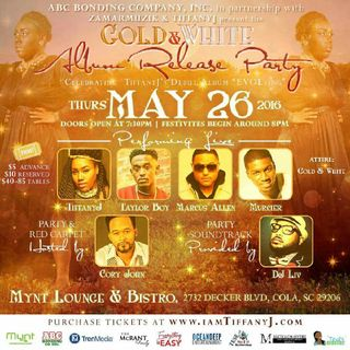 "TiffanyJ: Gold & White ""EVOLving"" Album Release Party"