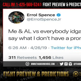 "☎️Errol Spence 🗣""Arum Failed Crawford""😱Promotes🤦🏽‍♂️Lomachenko BETTER😱"