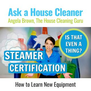 Steamer Certification - Is There Such a Thing? (House Cleaning)