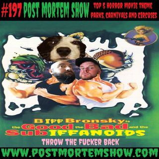 e197 - Biff Bronsky's Big Top (Top 5 Horror Movie Theme Parks, Carnivals & Circuses)