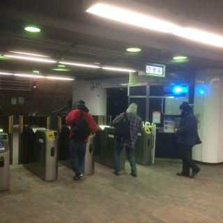 MBTA Passengers Brave Bitter Cold