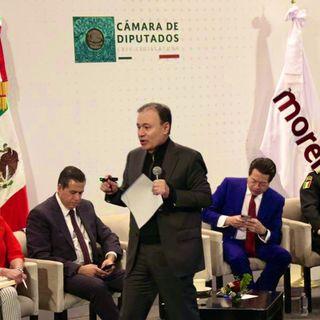 Durazo presenta iniciativas en reunión con senadores