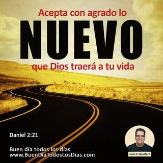 Acepta lo nuevo de Dios
