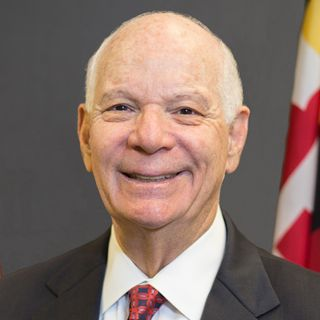 Senator Ben Cardin with Felice Friedson about the critical importance of journalism and bills he has sponsored