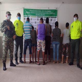 capturados en Campo de la Cruz y Manatí