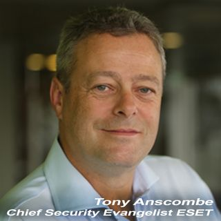 Tony Anscombe Chief Security Evangelist ESET on TechtalkRadio
