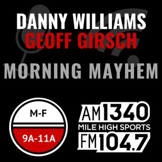 Thursday Nov 8: Hour 2 - Danny wants to be sedated; Girsch goes in on LeVeon Bell; Dez Bryant reaction; Next Colorado franchise to win a cha