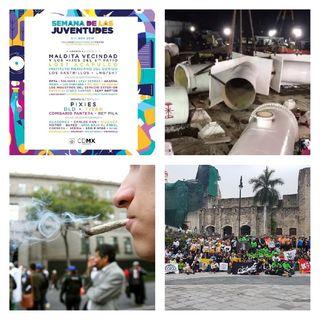 Mega Corte de Agua, FIL Oaxaca 2018, Legalización de la Marihuana, 65 Muestra Internacional De Cine, Semana de las Juventudes, NFL Semana 9.