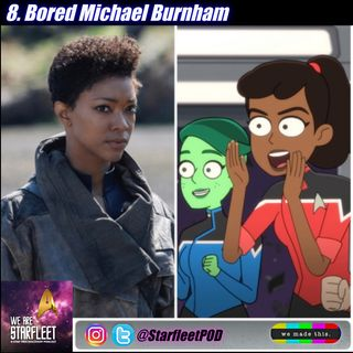 8. Bored Michael Burnham
