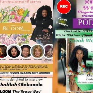 Speak Woman interview with our Winter 2018 Cover Feature Mrs. Khalilah Olokunola