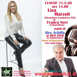"Lisa Marzoli e Franco Neri ospiti di Alex Achille in ""RED ZONE"" Radiochat.it"