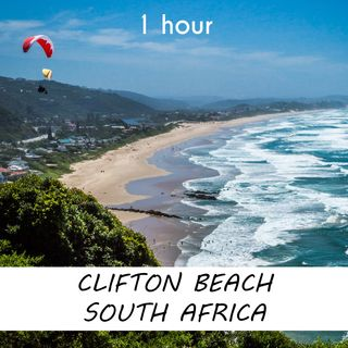 Clifton Beach, South Africa | 1 hour OCEAN WAVES Sound Podcast | White Noise | ASMR sounds for deep Sleep | Relax | Meditation | Colicky