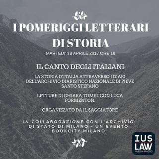 #iPomeriggiLetterari di Storia - il canto degli italiani