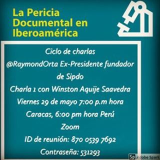 La Prueba Pericial Documentológica #1 con Winston Aquije Saavedra de Sipdo Perú